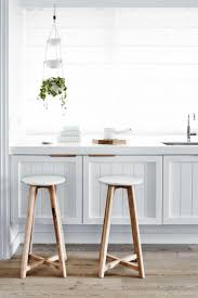 White Paint Kitchen Cabinets by Furniture Round Wood Backless Bar Stools With White Paint Kitchen