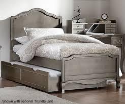 kensington silver finish charlotte twin size panel bed 30010 ne