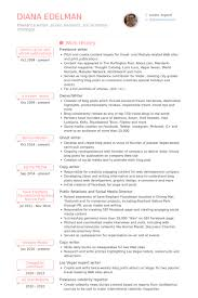 Communications Resume Examples by Freelance Writer Resume Samples Visualcv Resume Samples Database