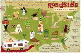 map attractions roadside attractions map roadside attractions road trips and
