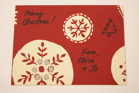 christmas postcards christmas postcards from recycled gift boxes chica and jo