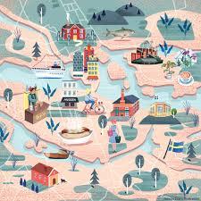 Map Of Bali Jasmijn Evans Illustration