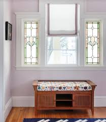 beautiful powder room with pretty standing sink and mirror also