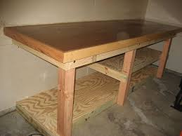 Woodworking Workbench Top Material by Low Waste Simple Rock Solid Workbench 8 Steps With Pictures