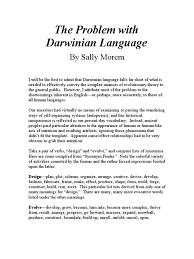 organizing synonym the problem with darwinian language evolution self organization