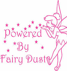 tinkerbell style fairy car sticker powered fairy dust choose