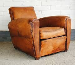 adorable vintage leather recliner with vintage mid century