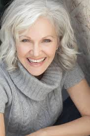 hairstyles for thick grey wavy hair maybe some day when i m old finally a grey style that s not