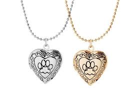 s day locket 2017 new s day gift pet cat dog paw charm pendant box