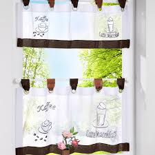 Kitchen Tier Curtains by European Style Bistro Window Curtain Fancy Tap Top Kitchen Curtain