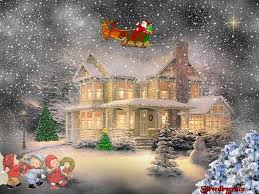 snowy christmas pictures winter snowy christmas snoy home winter nature scenic desktop photo