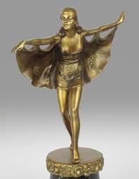 Otto Versand Wohnzimmerm El Art Deco Bat Dancer Skulptur Von Otto Poertzel 1920er Bei Pamono