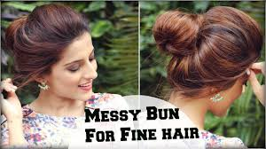 2 min easy everyday top messy bun hairstyle for fine thin hair