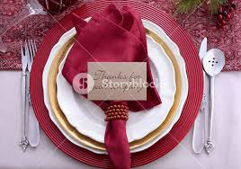 traditional theme festive table place setting for thanksgiving