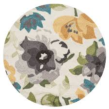 Francesca Rugs Shop Loloi Francesca Grey Yellow Round Indoor Handcrafted Nature