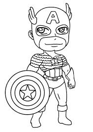 156 dessins de coloriage captain america à imprimer sur laguerche