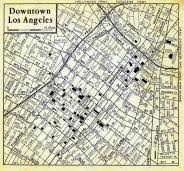 map of downtown los angeles los angeles downtown map atlas los angeles county 1957