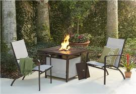 Patio Table With Firepit by Cosco Outdoor Products Cosco Outdoor Living 3 Piece Stone Lake