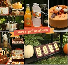 Fall Party Table Decorations - thanksgiving inspiration a fall harvest party by bird u0027s party