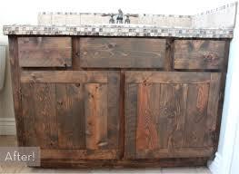 Diy Rustic Bathroom Vanity - before u0026 after a rustic diy oak vanity makeover curbly