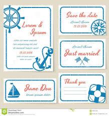 Wedding Invitations Nautical Theme - nautical style wedding invitation and cards stock vector image