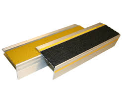 boldstep stair nosing with reflective strip by sure foot industries