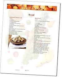 word recipe template collection of free cookbook templates great
