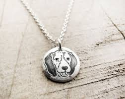 dog necklace silver images Silver dog necklace etsy jpg