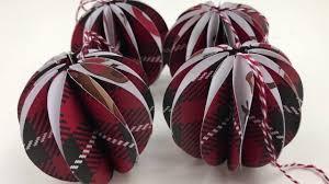 diy paper craft baubles