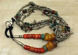 antique necklace silver images Antique berber necklace with silver amazonite coral and amber jpg