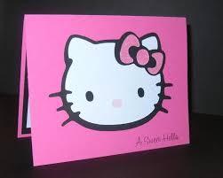 stampin up handmade greeting card hello kitty birthday card