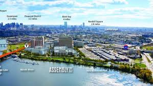 assembly row map what somerville waterfront assembly row growing along mystic