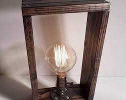unique table lamp edison desk lamp rustic brass light