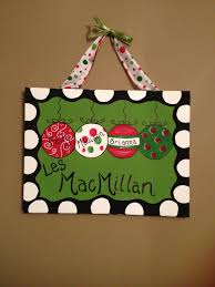 personalized christmas painted canvas crafts i have done