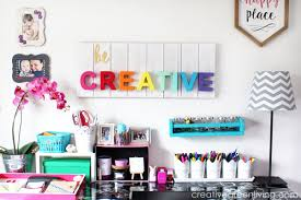 Pink Craft Room - craft room home office tour u0026 makeover reveal creative green