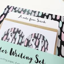 writing paper set personalised letter writing set painterly brushstrokes by elle personalised letter writing set painterly brushstrokes