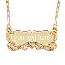 plated gold name necklace custom necklace 18k gold plated personalized nameplate necklace