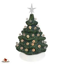 small mini 6 inch ceramic christmas tree in green with clear