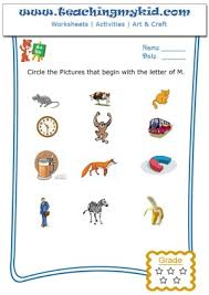 fun worksheets for kids circle the pictures that begin with the
