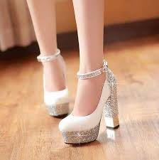 wedding shoes platform high heeled shoes sparkle bling wedding shoes for women with high