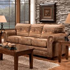 western leather sofa western furniture wild horses sofa collection lone star western decor