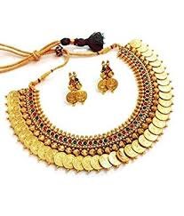 necklace jewellery set images Buy youbella golden plated jewellery set for women multi colour jpg