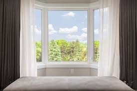 exterior attractive bay windows lowes for awesome home ideas beige wall with bay windows lowes and white trim board window for home interior design idea