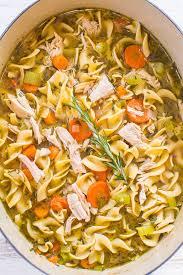easy 30 minute turkey noodle soup averie cooks