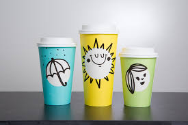 starbucks meets pantone springtime cups with a minimalistic design