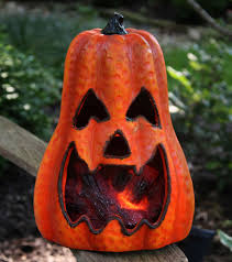 lighted halloween pumpkins lighted magnesium pumpkin with moving fire effect battery