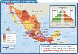 Mexico States Map by Latin America Mexico