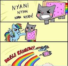 Internet Rainbow Meme - double rainbow