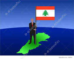 Libanese Flag Man With Lebanese Flag Stock Illustration I1650243 At Featurepics