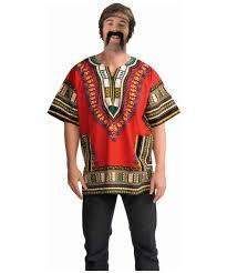halloween hippie costume red dashiki shirt men halloween costume
